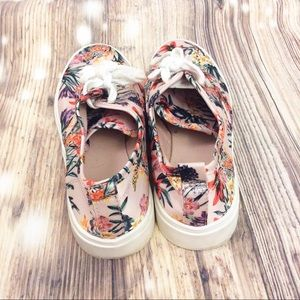 H&M Shoes - H&M Powder Pink Floral Sneakers